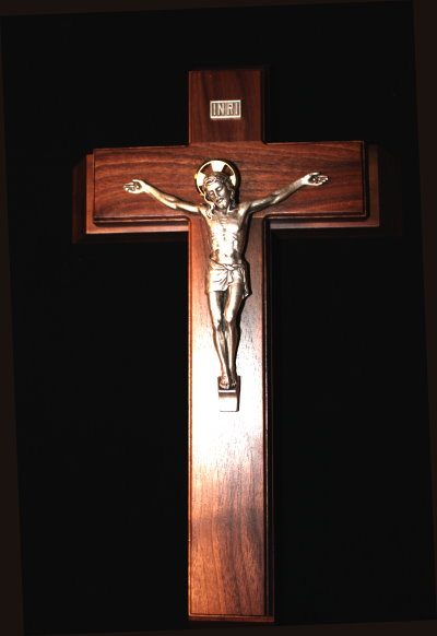Sick Call Crucifix (Walnut)