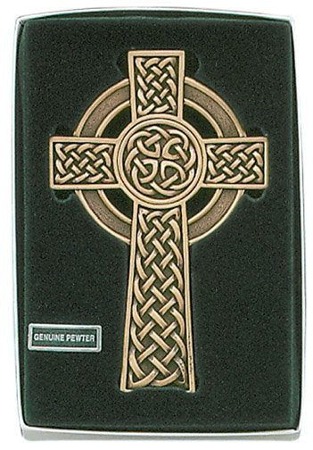 Gold Tone  Celtic Knot Cross 5""