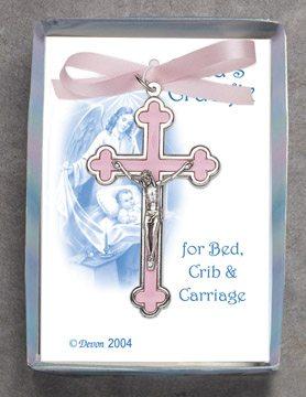 Crib Crucifix Pink