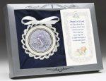 Sterling Crib Medal White