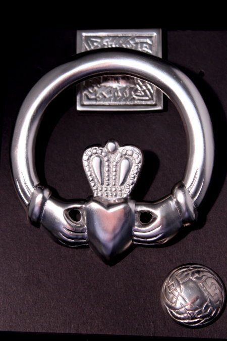 Satin Nickel Claddagh Door Knocker