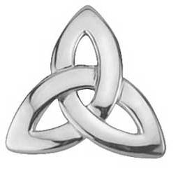 Sterling SIlver Trinity Knot Tie Tack
