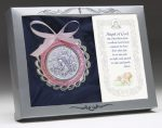 Sterling Crib Medal Pink