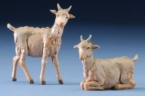 "Set of 2 Fontanini 5"" Village Goats"
