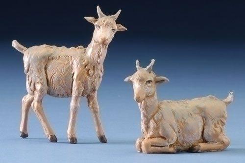 "Set of 2 Fontanini 5"" Village Goats"