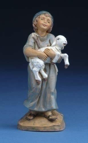 "Fontanini 5"" Silas Holding Sheep"