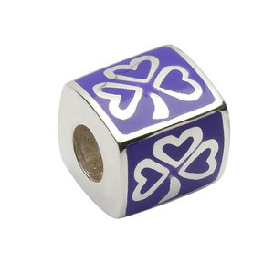 Enamel Shamrock Purple