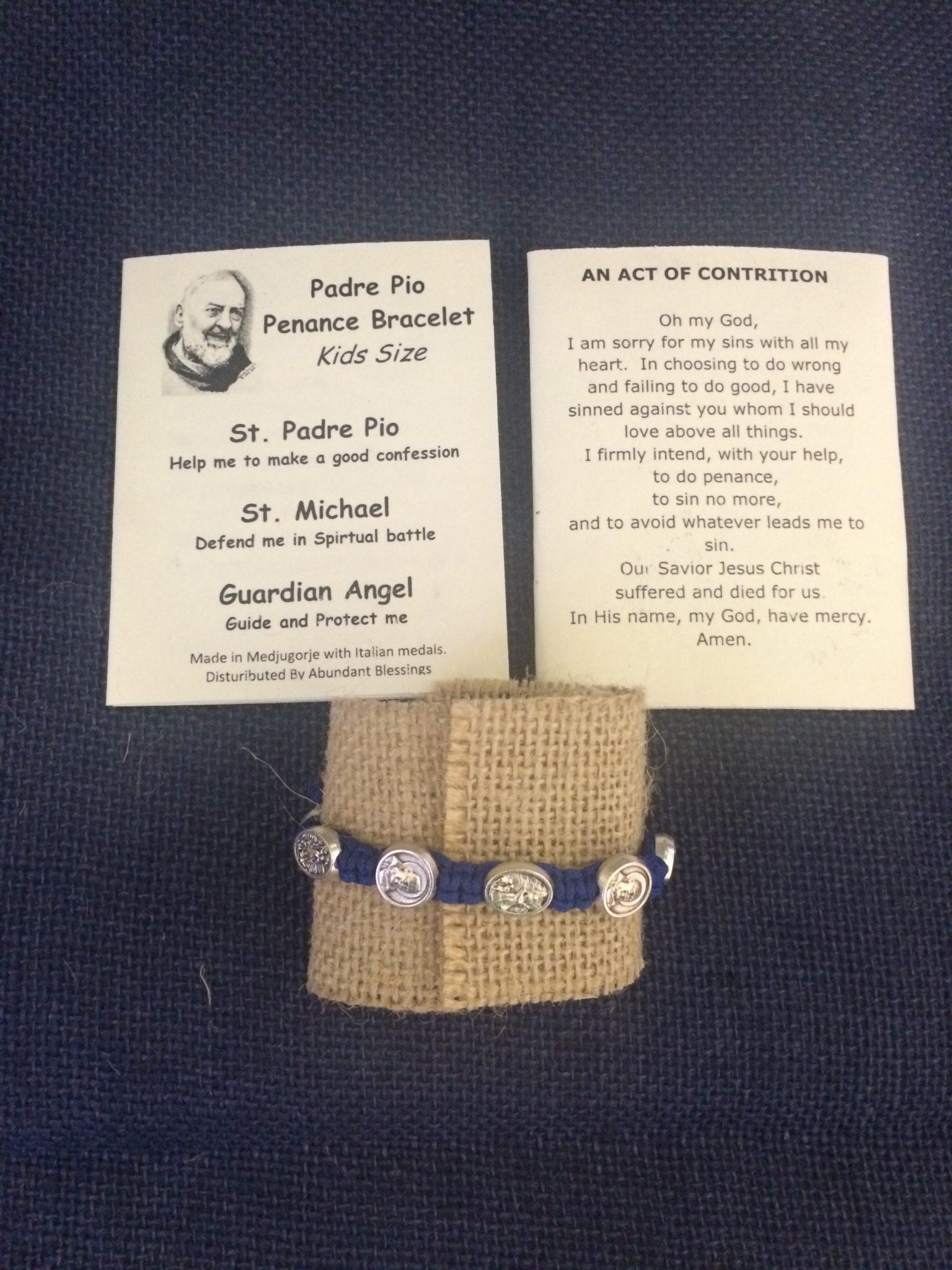 Padre Pio Penance Bracelet- Blue
