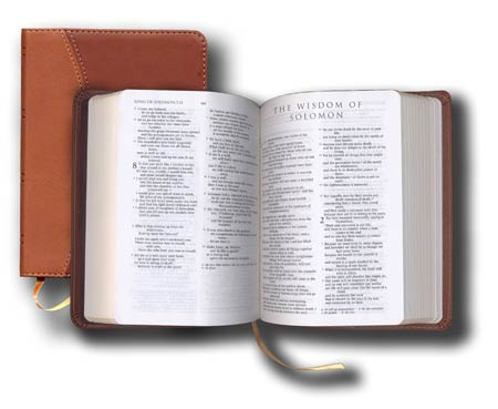 Ignatius Leather Catholic Bible (Burgundy)