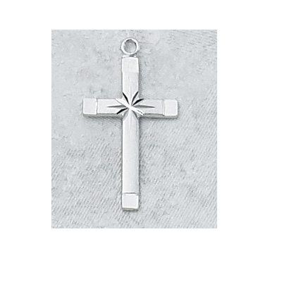 "SS Cross 18"" Chain"