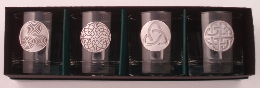 Lo-Ball Glass Set Celtic Design