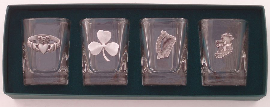 Shot Glass Set Irish Heritage