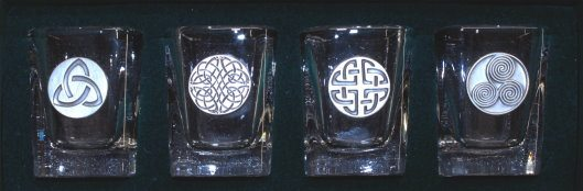 Shot Glass Set Celtic Design