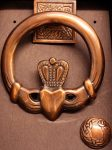 Door Knocker Claddagh (Ant. Copper)
