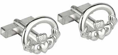 Cufflinks Claddagh Rhodium