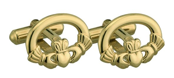 Cufflinks Gold Plated Claddagh