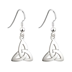 SS Wire Dangle Trinity Knot Earrings