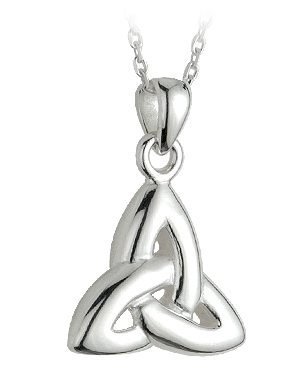 Double Sided Trinity Knot Pendant 18""