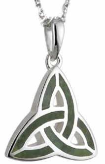 Trinity Knot Pendant Commemara Marble