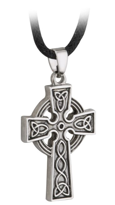 Celtic Cross Lg Block Cord Adjustable to 24""