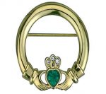 Claddagh Pin 18K Gold Plated