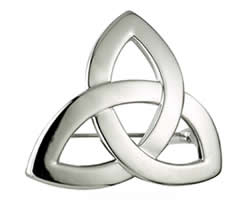 Trinity Pin Rhodium Finish