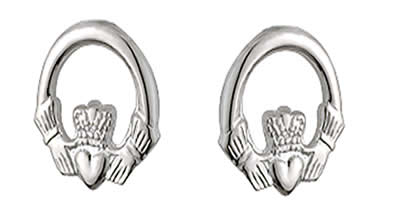 SS Claddagh Post Earrings (small)