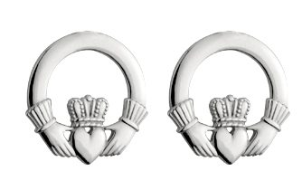 SS Claddagh Stud Earrings