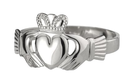 SS Claddagh Ring (Wide)(Men's)